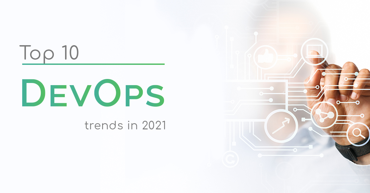 Person working on a touch screen | Top 10 DevOps trends in 2021 caption